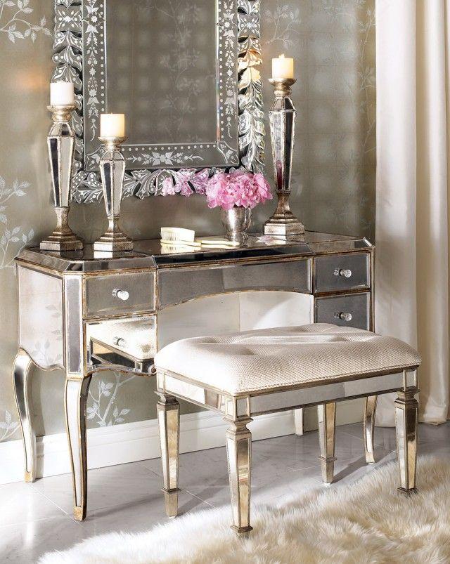 Makeup Vanity Google Search Mirrored Furniture Mirrored