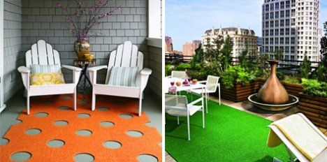 Outdoor rugs by FLOR