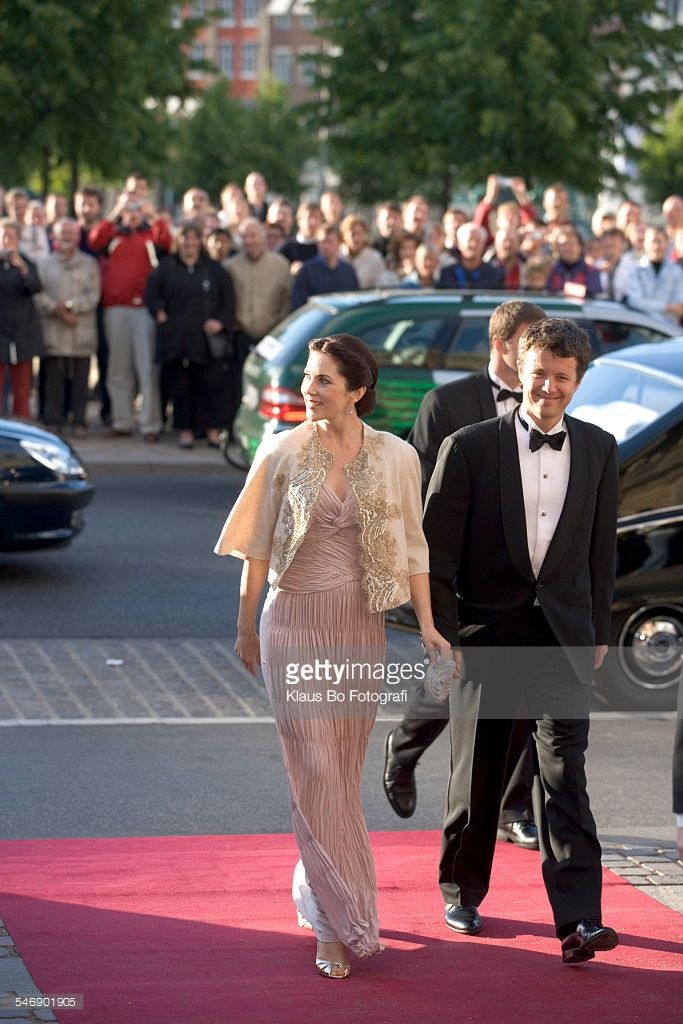 June 11, 2005--Festforestilling på Det Kongelige Teater i anledning af Bournonvilles 200 års fødselsdag; Kronprinsesse Mary og kronprins Frederik