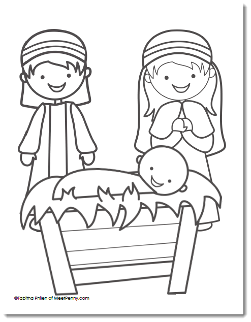 Free Nativity Coloring Page Meet Penny Nativity Coloring Pages Nativity Coloring Christmas Coloring Pages