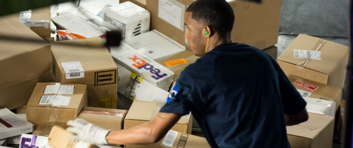 FedEx Express employee at a regional parcel sorting centre - fedex jobs