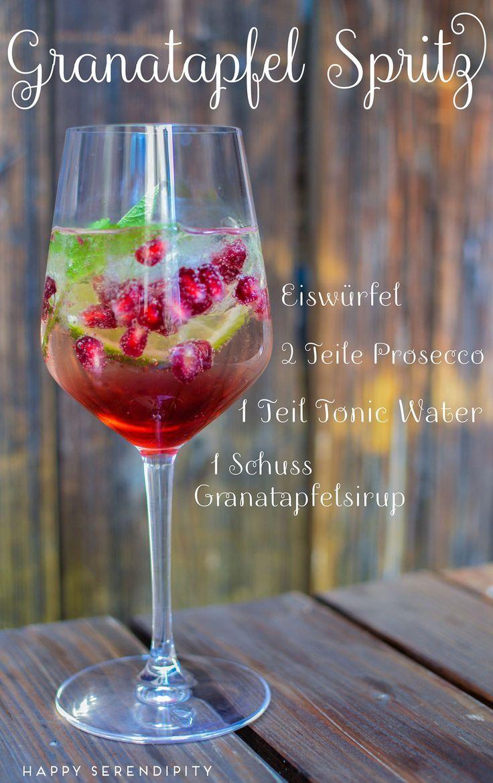 {Rezepte} für erfrischende Sommergetränke - Granatapfel Spritz und Herrliche Melonen-Limo #deliciousfood