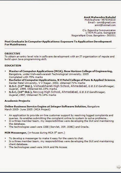 free job resume templates Sample Template Example of