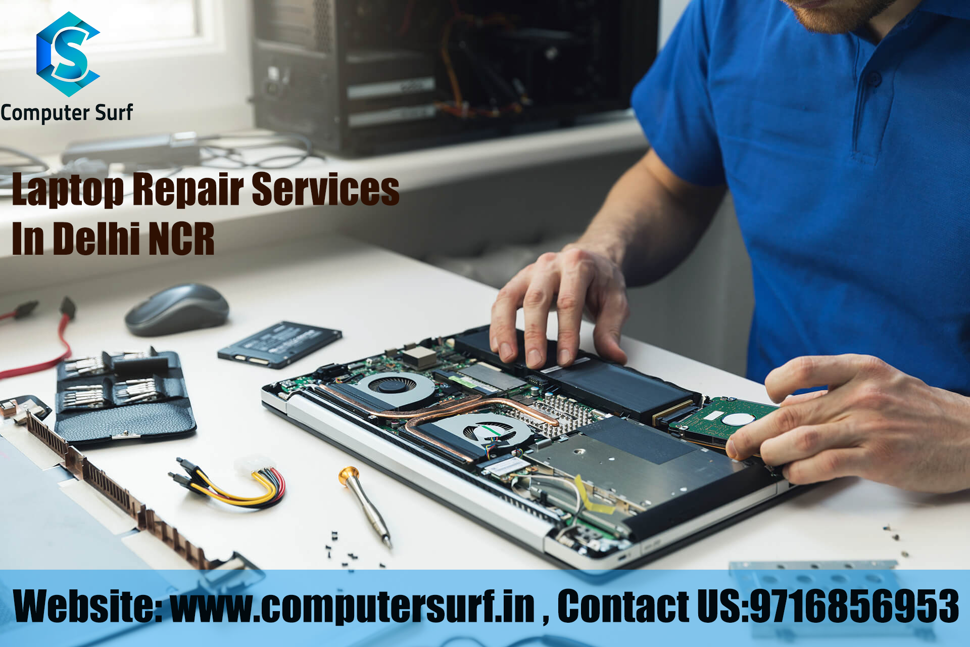 Find one of the best Laptop repair services shop in Delhi