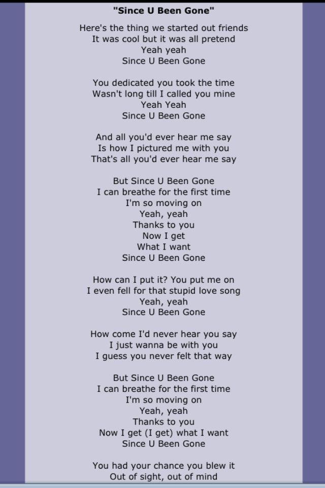 Kelly Clarkson Great Song Lyrics Pop Lyrics Music Lyrics