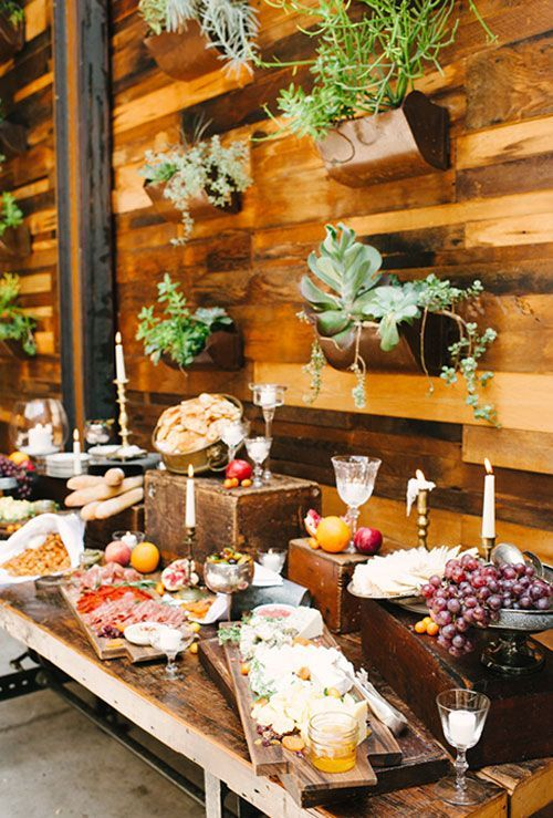 More Couples Are Opting For Less Formal Wedding Reception Dinner Options Like Food Stations