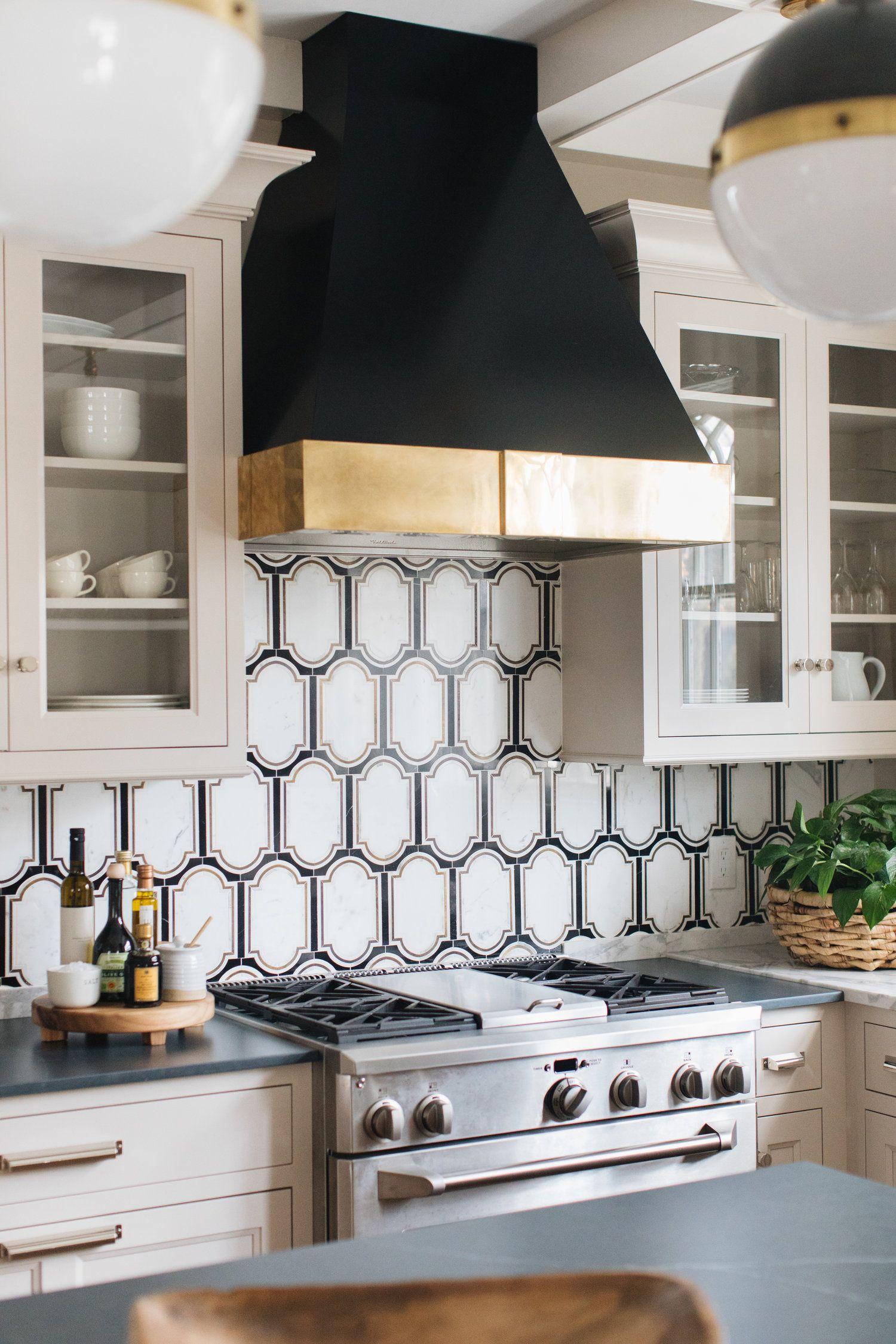 Jean Stoffer Design Victorian 1902 Backsplash Thinking Of Using This Or Something Similar For The Black Kitchen Decor Geometric Kitchen Simple Kitchen Design