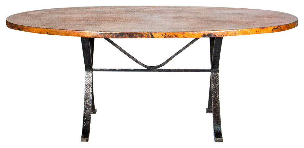 Animas Copper Top Dining Table Oval Dining Tables By