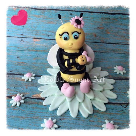 BUMBLE BEE BABY Shower Ba Bee Cake Topper By EdibleSugarArt