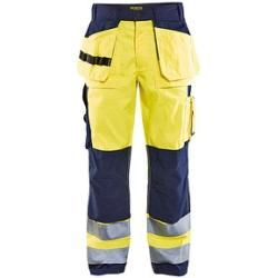 "Photo of Blakläder® unisex high visibility safety trousers ""1533"" yellow size 34"