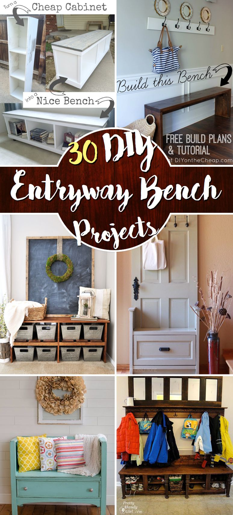 Corner hallway storage cabinet  The Best  DIY Entryway Bench Projects  DIY  Pinterest  Entryway