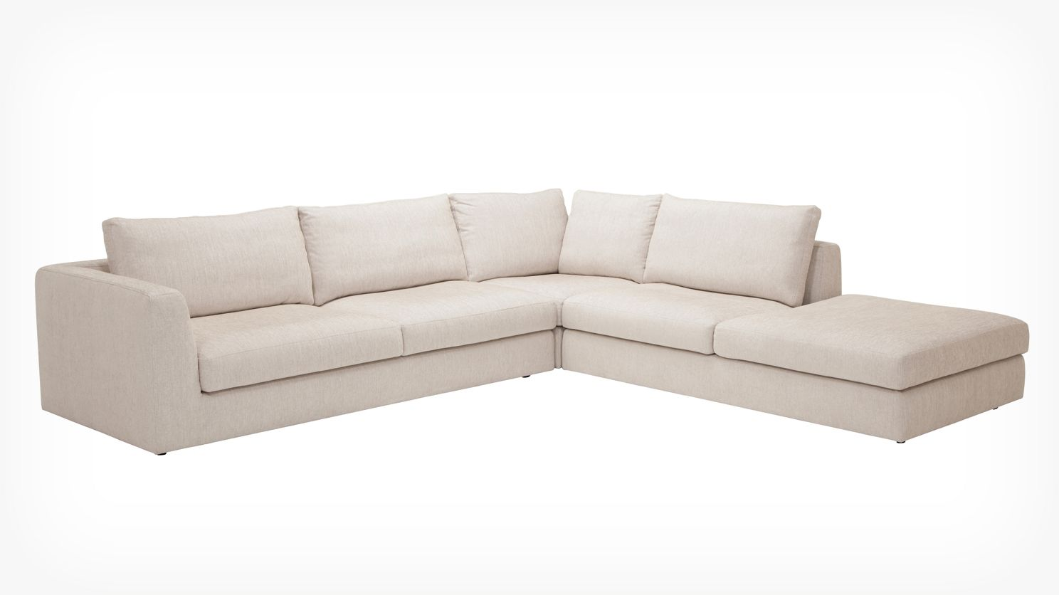 Cello 3 Piece Sectional Sofa With Backless Chaise Fabric Folly Brutalist Haus Pinterest