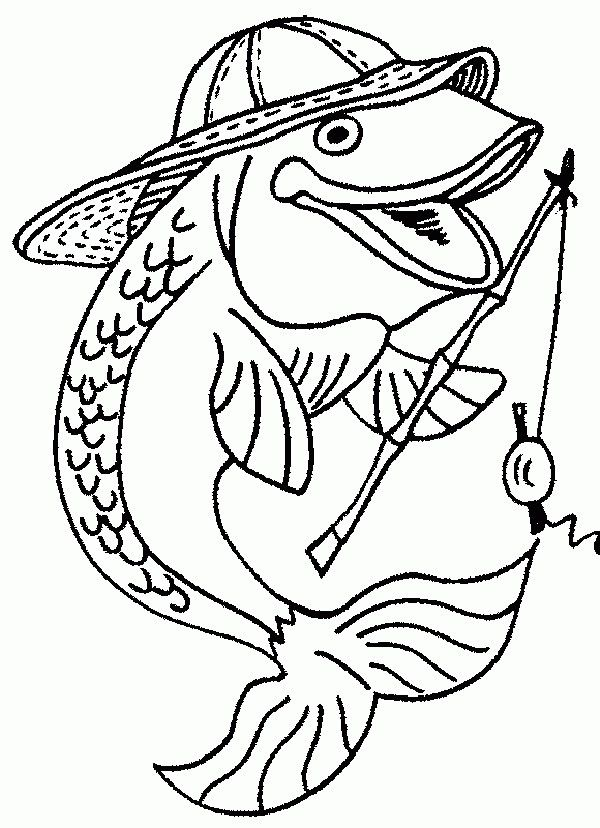 Fishing Fish Fish Coloring Page Coloring Pages Free Coloring Pages