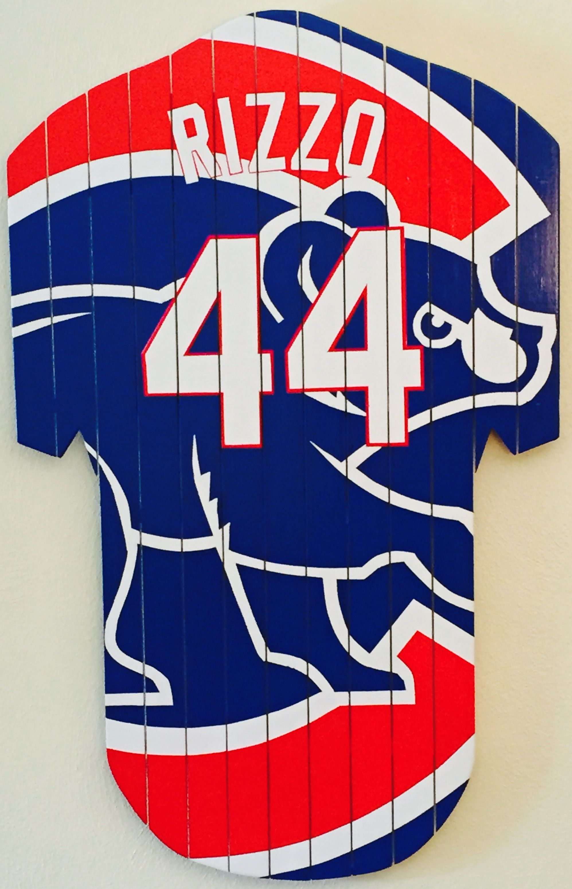 free shipping 34f7d 21c5b Chicago Cubs abstract art Anthony Rizzo jersey #44 | CUBS ...
