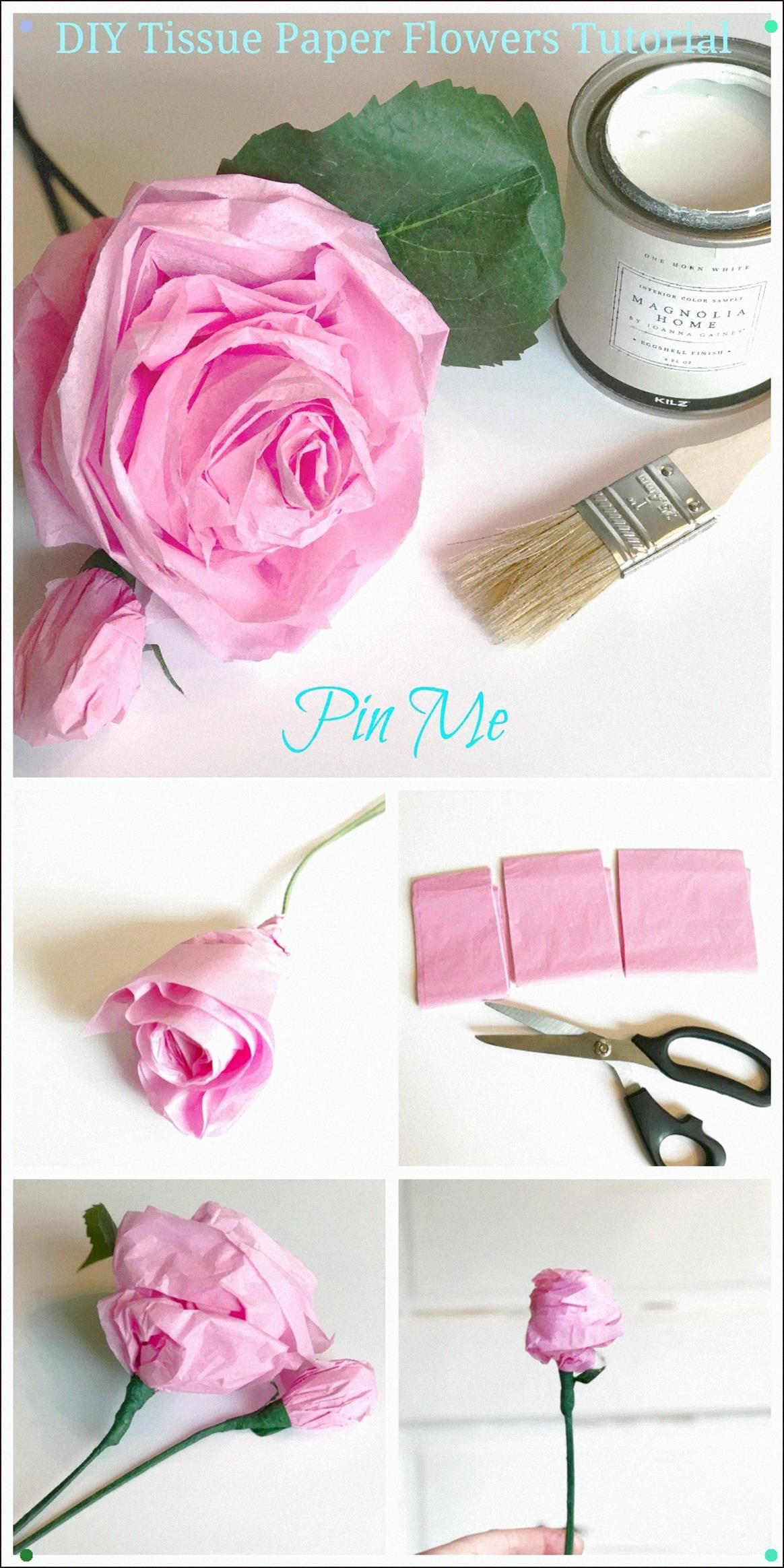 Diy Tissue Paper Flowers Tutorial Hallstrom Home With Images