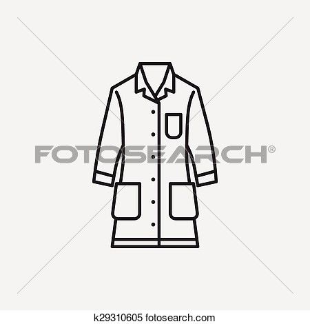 Lab Coat Line Icon Clipart K29310605 Line Icon Clip Art Coat