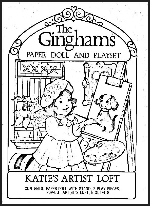 The Ginghams Coloring Page Katies Artist Loft