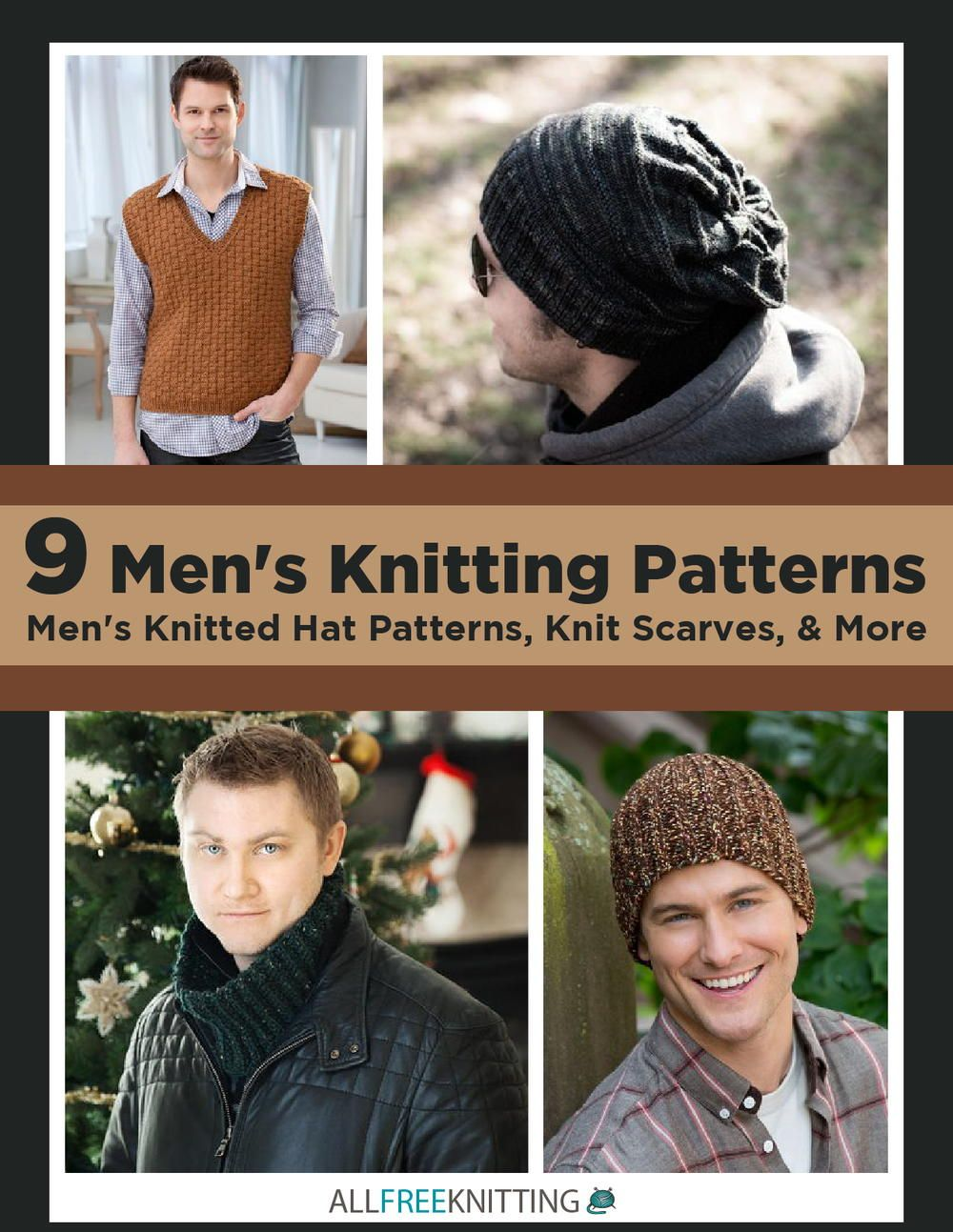 9 Men\'s Knitting Patterns: Men\'s Knitted Hat Patterns, Knit Scarves ...