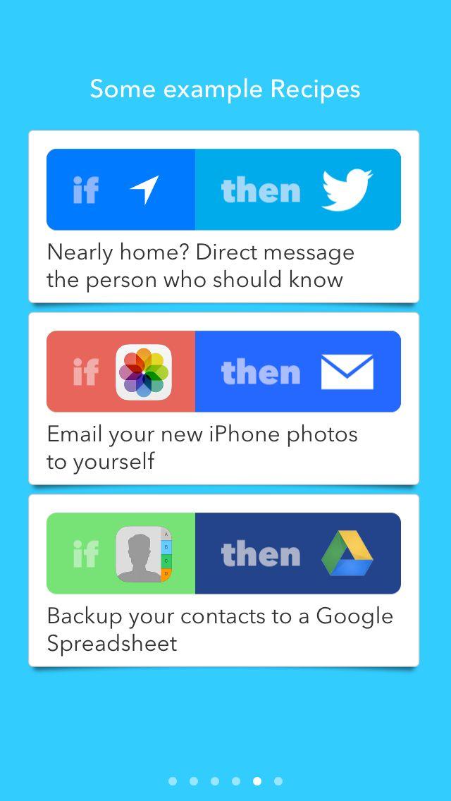 IFTTT 5 App intros Pinterest