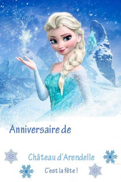 diy affiche anniversaire reine des neiges