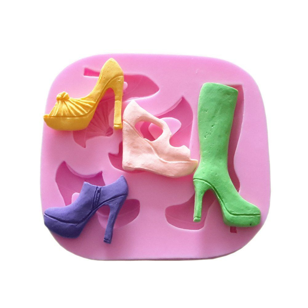 934c661c79 Yunko 5 Holes Fashion Ladies Boots High-heeled Shoes Fondant Silicone Cake  Decorating Mold Chocolate Candy Mold   Special product just for you. See it  now!