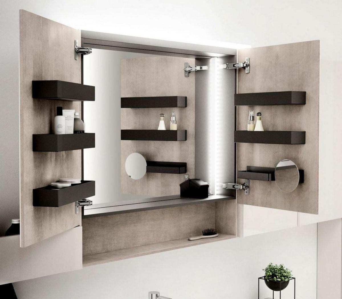 Geberit Acanto Two Door Mirror Cabinet With Lighting In 2019
