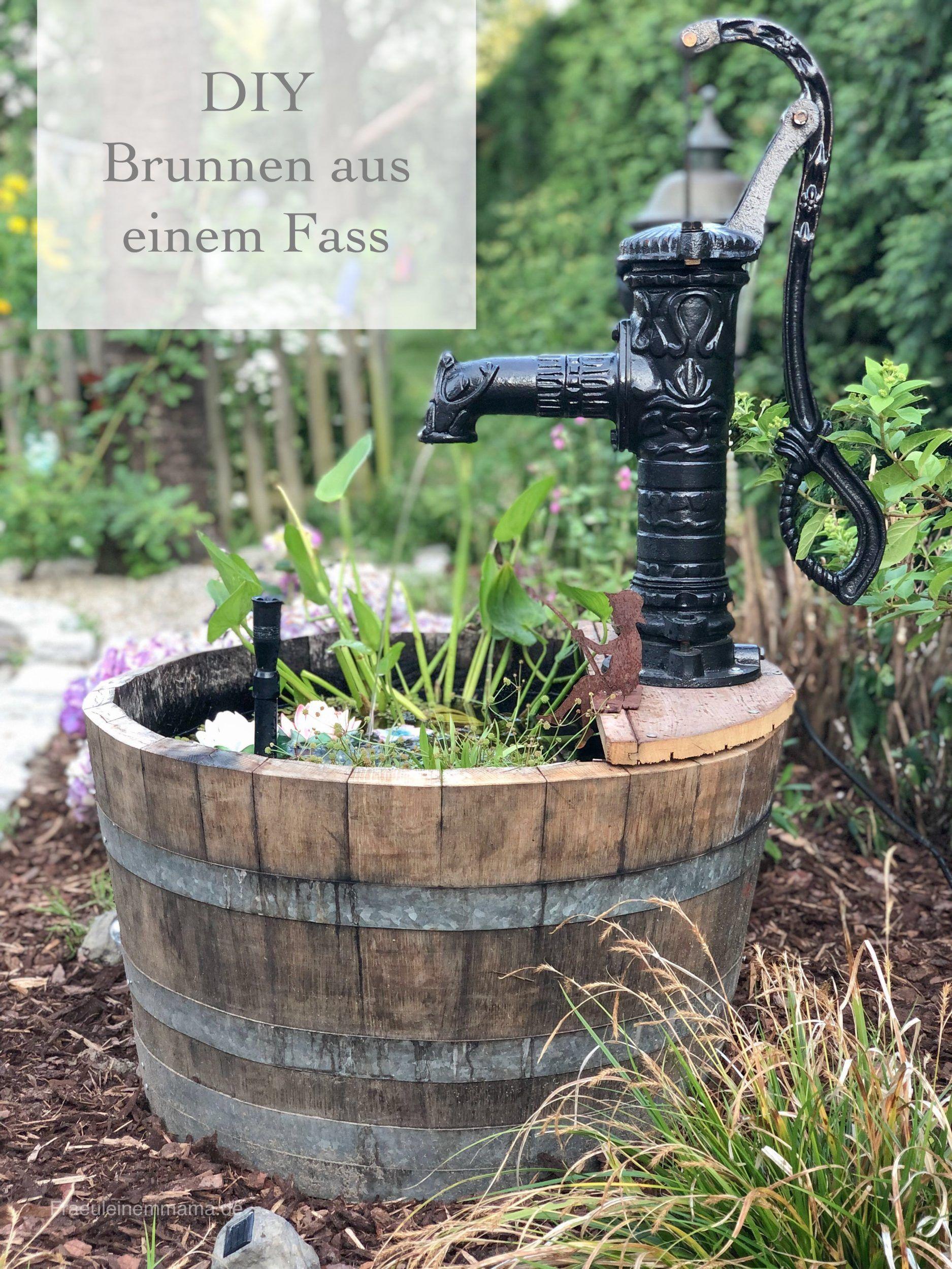 DIY Brunnen aus einem Fass – Fräulein Emmama
