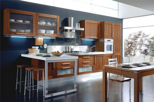 Grey Kitchen Walls With Cherry Cabinets kitchen color schemes with dark cabinets - google search | can't