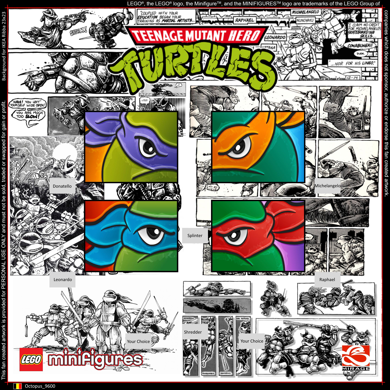 LEGO Teenage Mutant Ninja Turtles Minifigures Background for IKEA ...