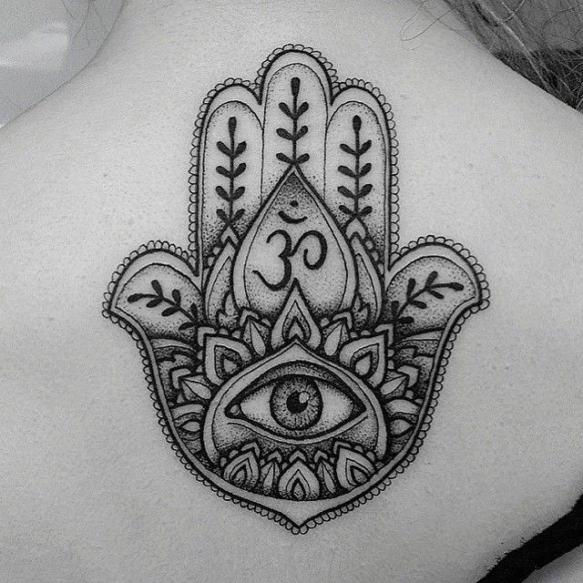 Mano Hamsa Ojo Y Símbolo Om Lindas Ideas Pinterest Tattoos