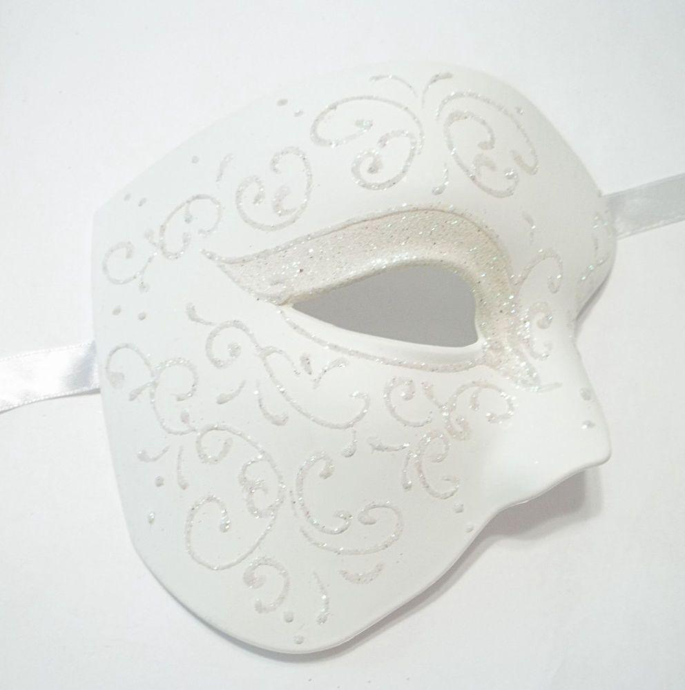 Wedding White Phantom of The Opera Costume Masquerade Mardi Gras ...