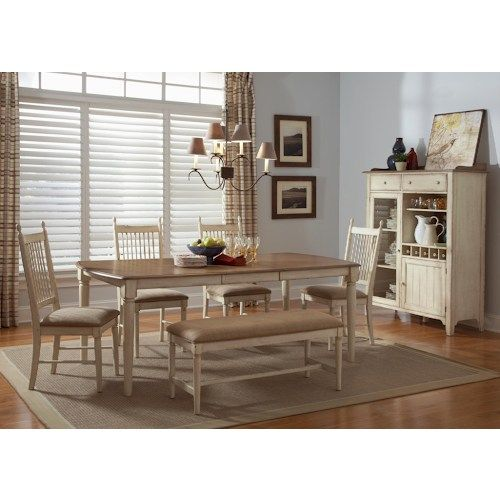 Liberty Furniture Cottage Cove Casual Dining Room Group  Beach Impressive Casual Dining Room Sets 2018