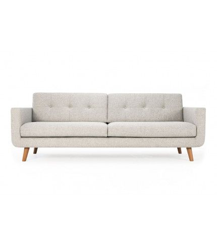 Conrad 3 Seater Sofa Andie Stone Oak Legs Sofa Sofa Company 3 Seater Sofa