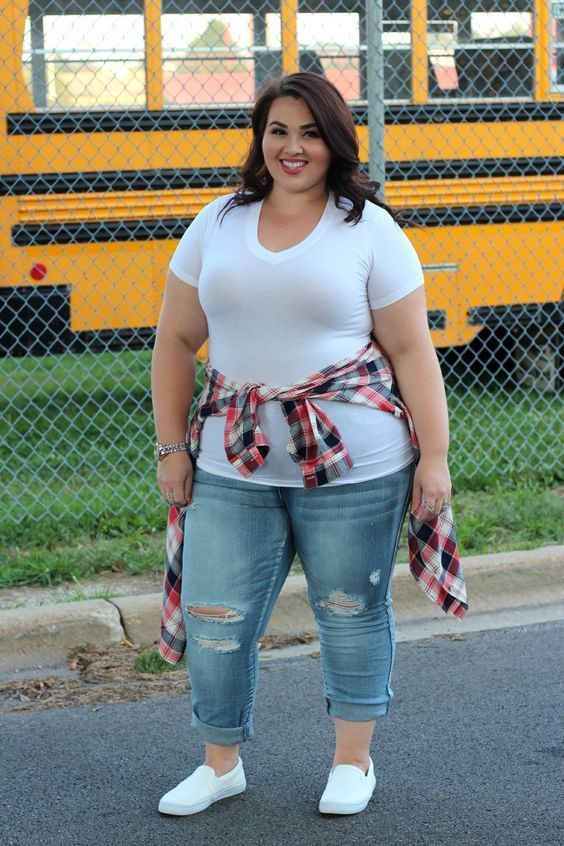 Plus Size Outfit  Cute Back To School Outfits For Curvy Girls