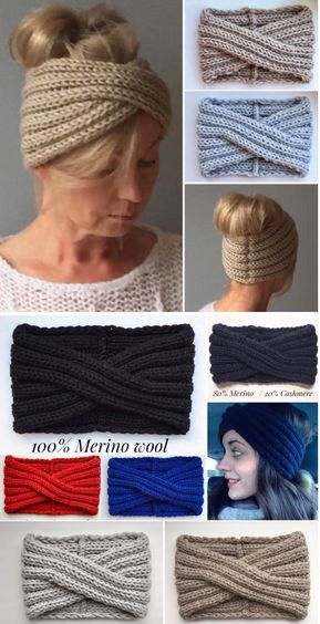 Photo of Hand-knitted headband turban by JPalKnits Super soft, warm and cozy …