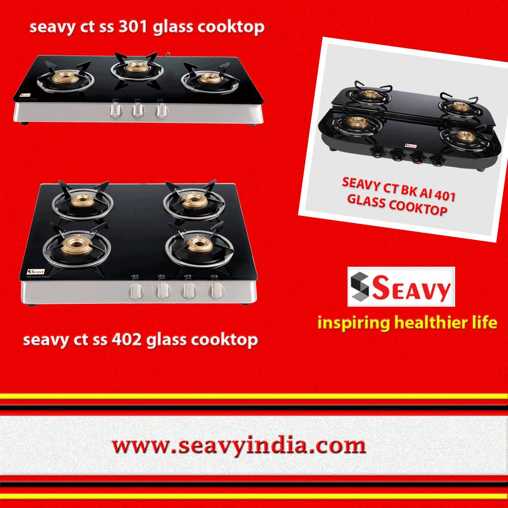 Seavy cooktop 4 and 3 burner is available best price
