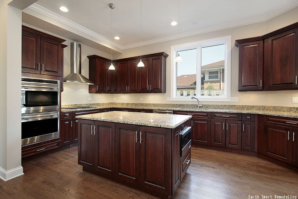 Choosing The Best Finish For Kitchen Cabinets | Dark wood ...