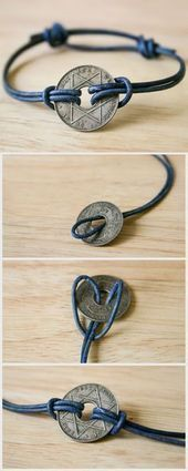 Turn a souvenir coin from your travels into a simple attractive one  sticken  nähen