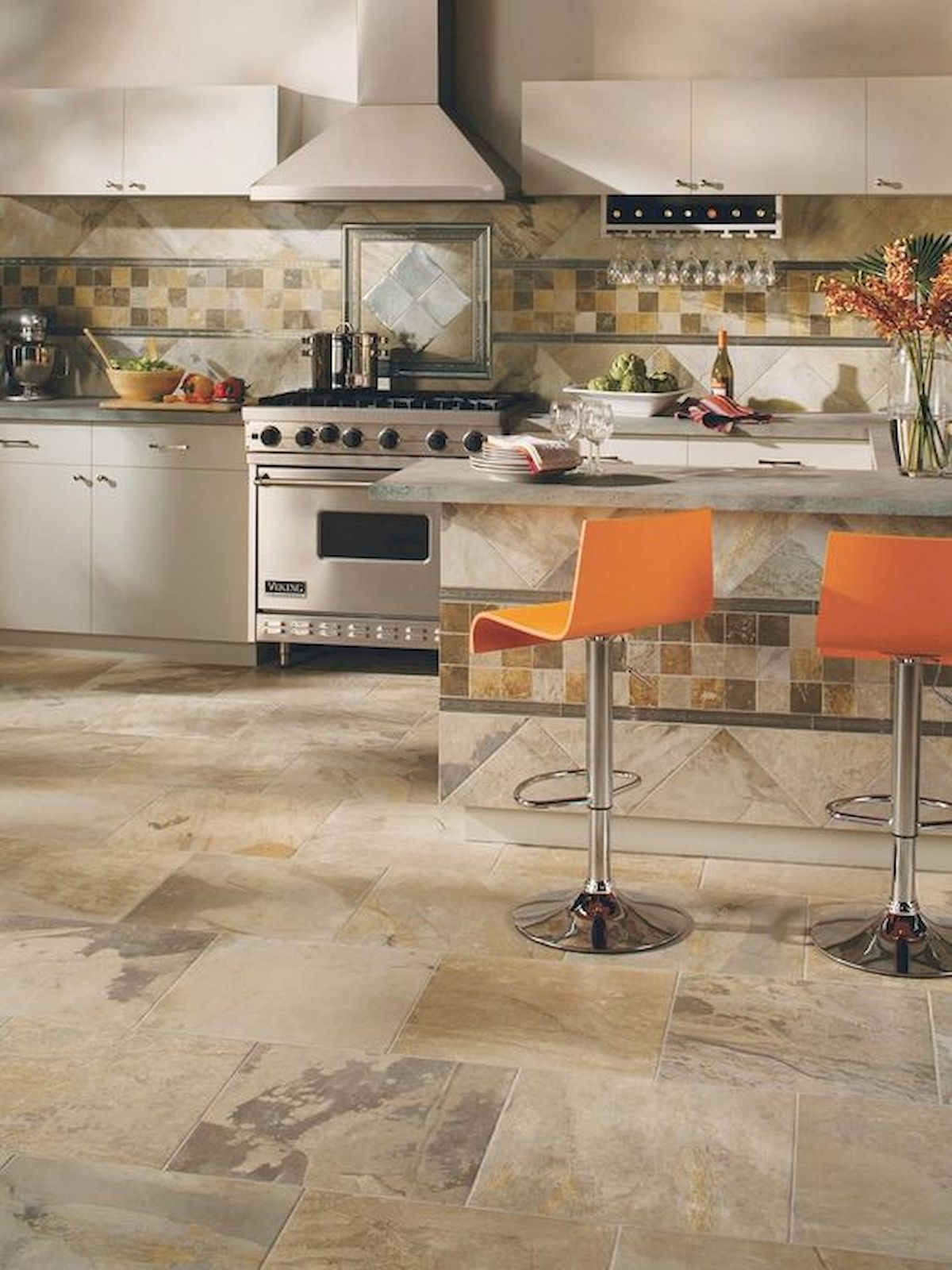 30 Awesome Kitchen Floor Design Ideas With Concrete Floor Ideas Types Of Kitchen Flooring Best Flooring For Kitchen Kitchen Floor Tile