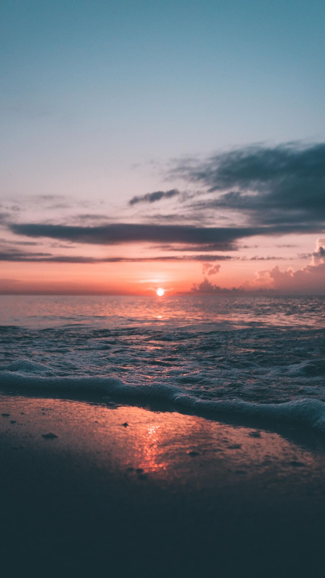 Soft Sea Wave Close Up Sunset Nature 1080x1920 Wallpaper Sky Aesthetic Nature Pictures Sunset Wallpaper