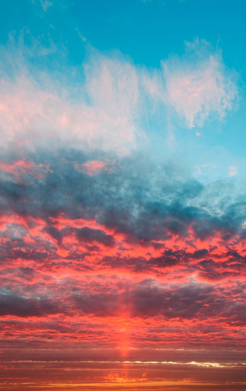 Sky Orange Clouds Sunset Wallpaper Sunset Wallpaper Sky Aesthetic Clouds