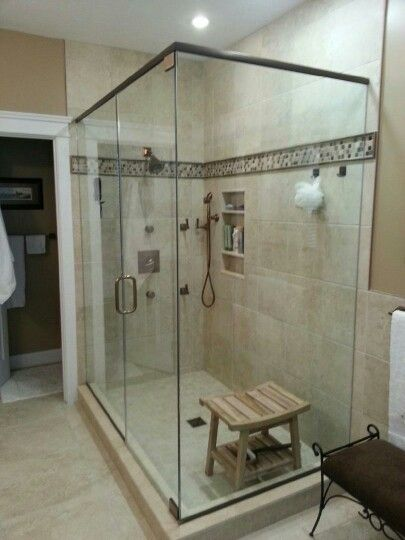 Frameless Shower Britt And Tilson Glass Asheville, NC