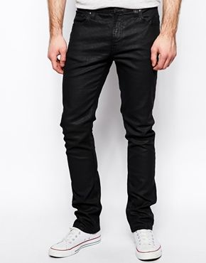 14c77f2201c19 Nudie Jeans Tube Tom Skinny Fit Back In Black Coated