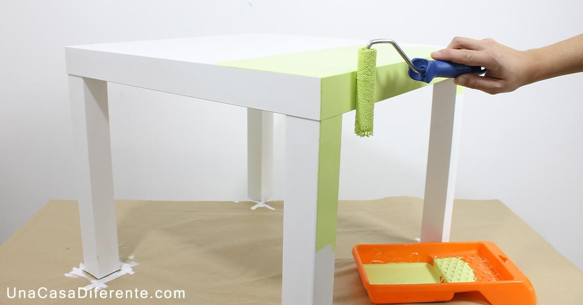 Todos los pasos a seguir para pintar muebles de melamina for Chalk paint muebles ikea