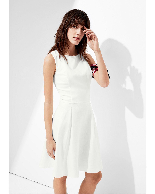 big discount huge inventory the best s.Oliver BLACK LABEL Leinen-Kleid mit Taillengürtel ...