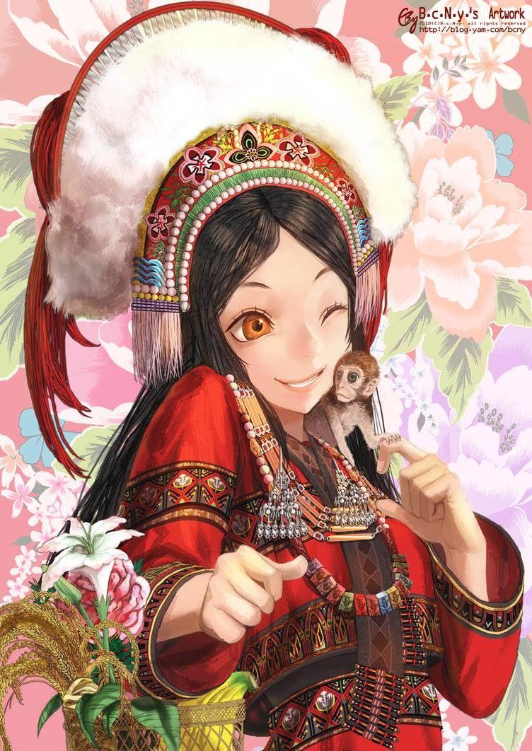 El taiwanés Han-Yuan, Yu, aka Bcny's ART, crea ilustraciones atractivas mediante el uso de colores brillantes, interesantes composiciones y gestos dinámicos con una influencia por el anime, la pintura clásica y la cultura China.