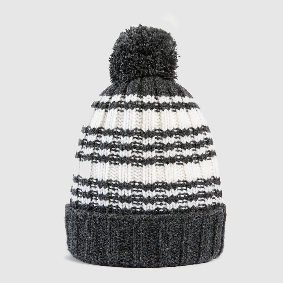 a399a4c48b5 Gucci Dark Grey   Ivory Wool Striped wool knit hat  295.00 ...