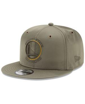 557f4cd6e84 New Era Golden State Warriors Full Satin 9FIFTY Snapback Cap - Green  Adjustable