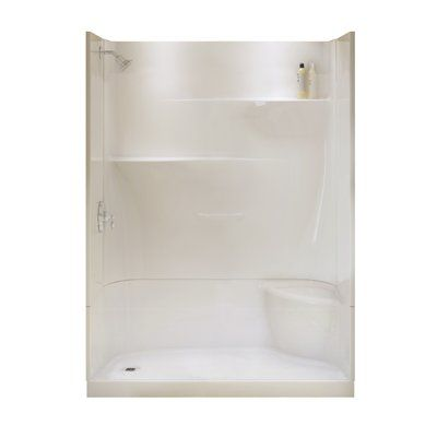 Maax Adesso White 30 In X 60 4 Piece Alcove Shower Kit With Right