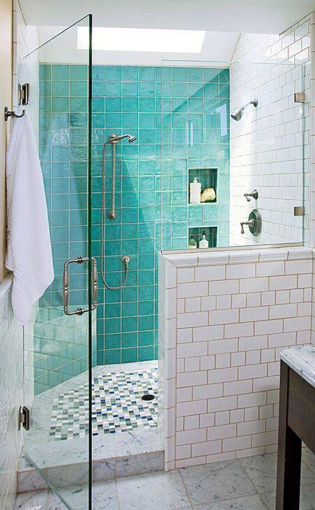 Aqua Tiles Bathroom Tile Designs Bathroom Shower Design Bathroom Makeover